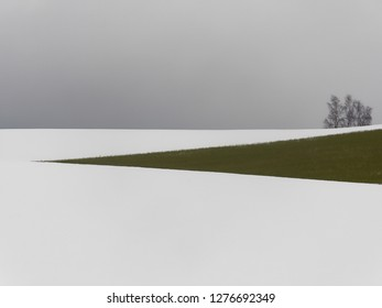 winter landscape with snow in austria
