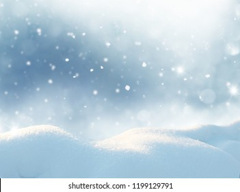 Winter landscape with snow .Christmas background