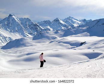 Winter landscape - Snow covered mountains in Santa Catherina