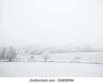 Winter landscape, Sweden.