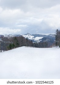 Winter landscape in Switzerland