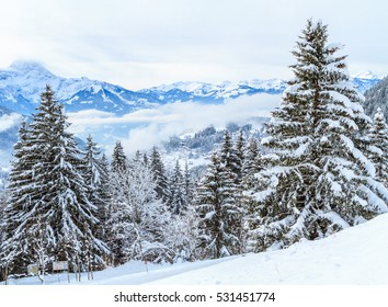The winter landscape in Switzerland