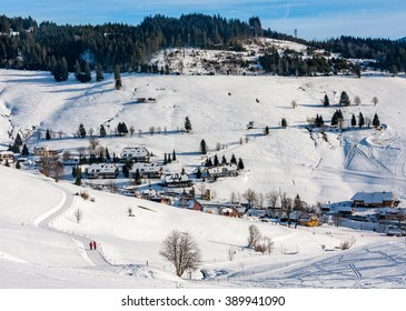 Winter landscape in Todtnauberg, Schwarzwald, Germany