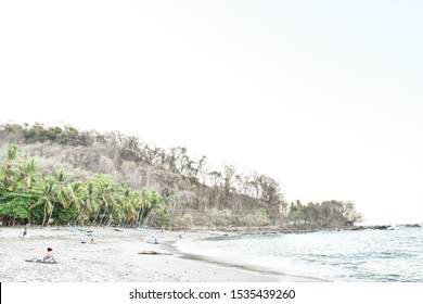 winter landscape with trees, photo as a background taken in Nicoya, Costa rica central america , montezuma beach