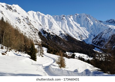 winter landscape in Val Camonica