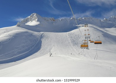 Winter landscape in the Zugspitze, Bavary, Germany. Highest Point in Germany (2962 m)