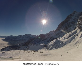 Winter landscape of Zugspitze in Garmish Partenkirchen, Bavary, Germany