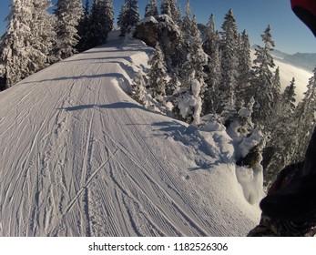 Winter landscape of Zugspitze in Garmish Partenkirchen, Bavary, Germany