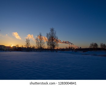 Winter landscapes, Finland, Oulu