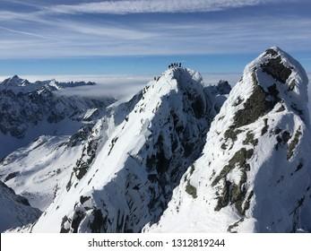 Winter landscapes of High Tatras mountain, Slovakia