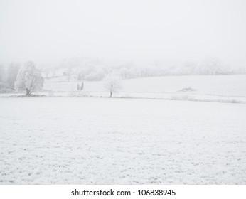 Winter lanscape, Sweden.