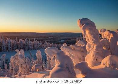 Winter in Lapland Ukkohalla
