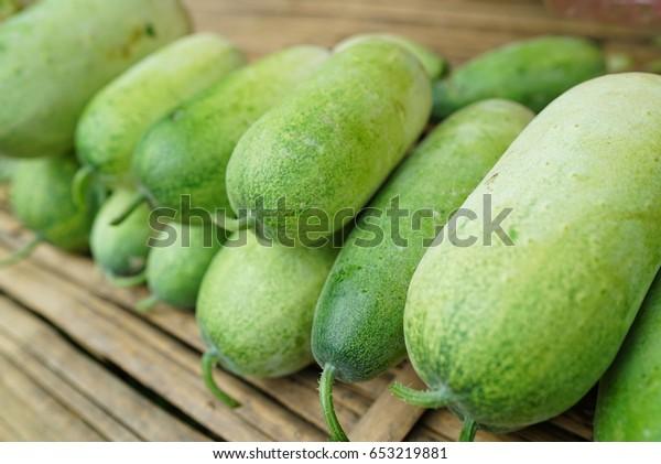 Winter melon also called ash gourd white gourd winter gourd wax gourd