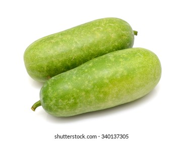 Winter melon fruit isolated on white background