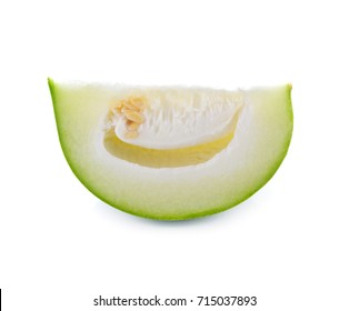 winter melon slices isolated on white background