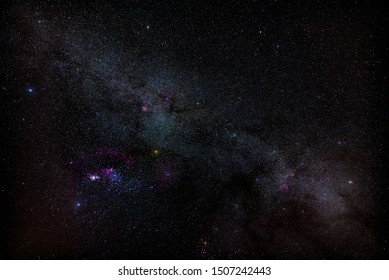Winter Milky Way over the sky