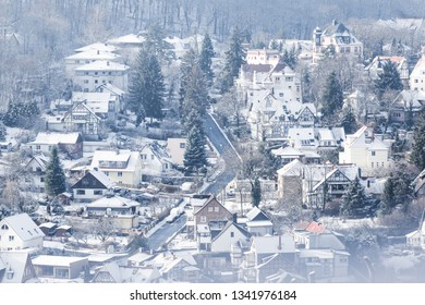 Winter moments, views of the city of Wernigerode in the Harz mountains