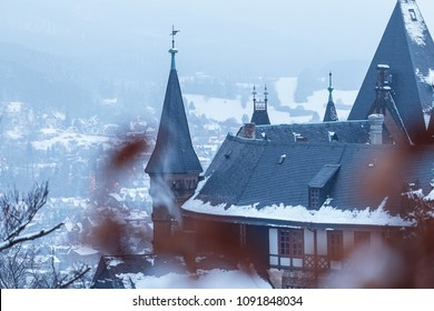 Winter mood at the castle of Wernigerode