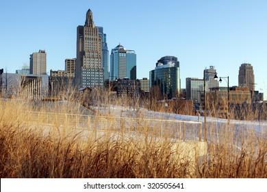Winter morning in Kansas City, Missouri, USA.