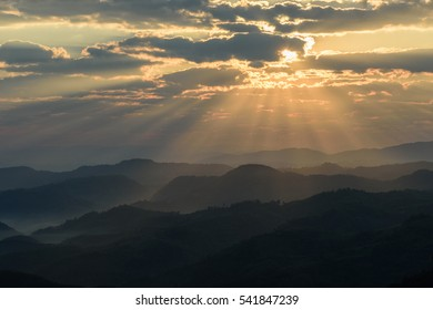Winter morning light on ( Mae Salong, Chiang Rai. thailand )