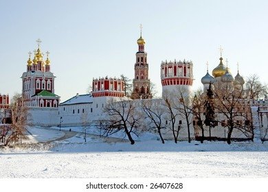 Winter in Moscow. Novodevichy Convent
