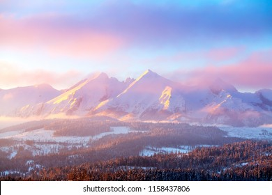 Pink Mountain Images, Stock Photos & Vectors | Shutterstock