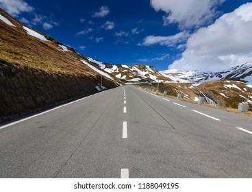 Winter - mountain road
