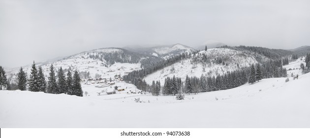 Winter mountain with snow