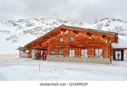 Winter mountain snow ski resort view. Mountain ski resort winter snow. Winter snow mountain ski resort. Mountain ski resort