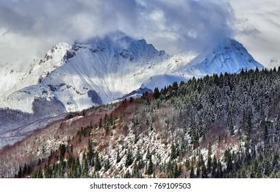 Winter mountains. Korab, Macedonia