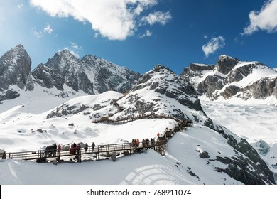 Winter mountains in nature