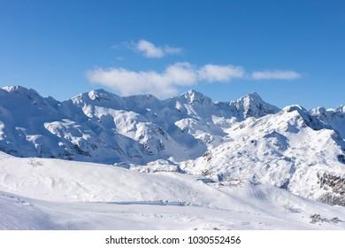 winter mountains of Slovenia beautiful landscape