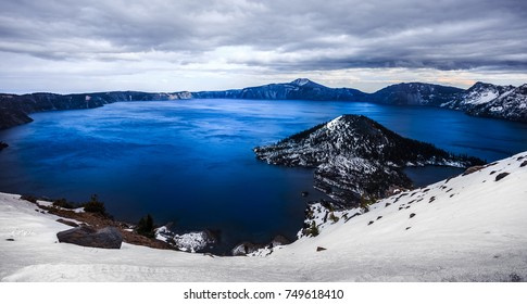 Winter on Crater Lake, Crater Lake National Park, Oregon