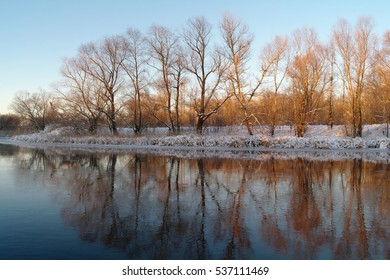 Winter on the frozen river
