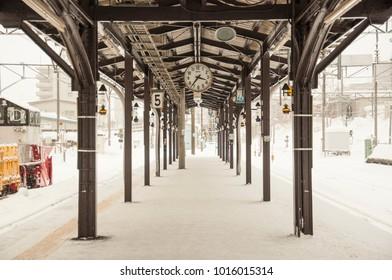 winter in otaru, japan