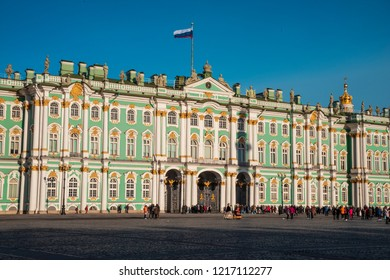 winter palace in the city of St. Petersburg. Russia. - Shutterstock ID 1217112277