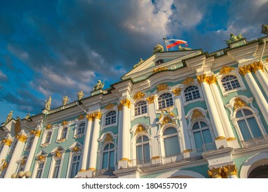 winter palace in the city of St. Petersburg. Russia. - Shutterstock ID 1804557019