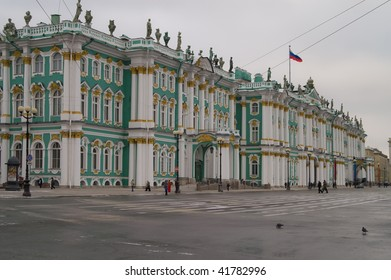 Winter Palace - Hermitage museum in St.Petersburg, Russia