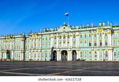 Winter Palace on Palace Square in Saint Petersburg, Russia