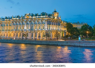 The Winter Palace (the State Hermitage Museum). The White Nights in St.Petersburg, Russia
