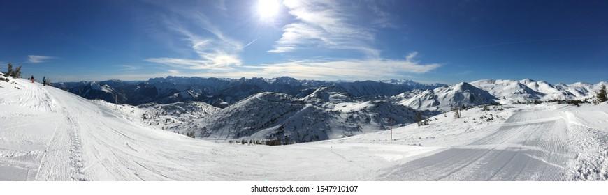 Winter panorama at the Feuerkogel