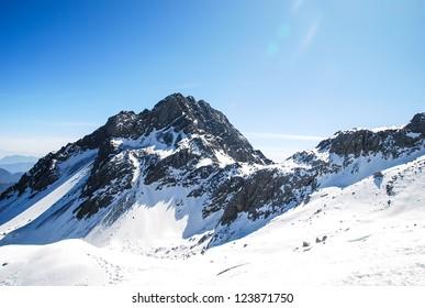 Winter Panorama of Jade Dragon Snow Mountain