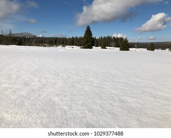Winter panorama in mountaines