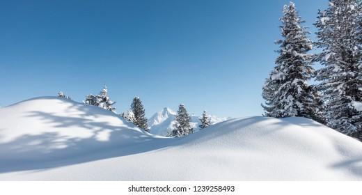 Winter panorama in the Zillertal - Tyrol - Austria