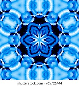 Winter pattern with blue color and snowflake