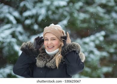 Winter portrait of woman