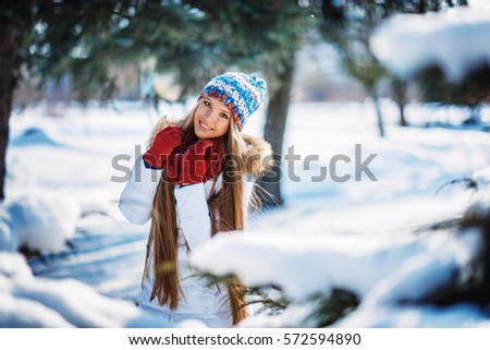 2896516e3 Winter Portrait Young Beautiful Blond Woman Stock Photo (Edit Now ...
