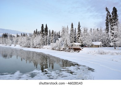 Winter River in Alaska