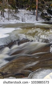 Winter river ice