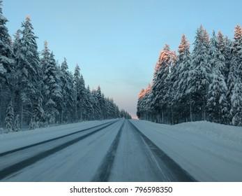 Winter road Finland